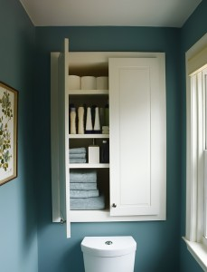 planning a custom powder room storage cabinet