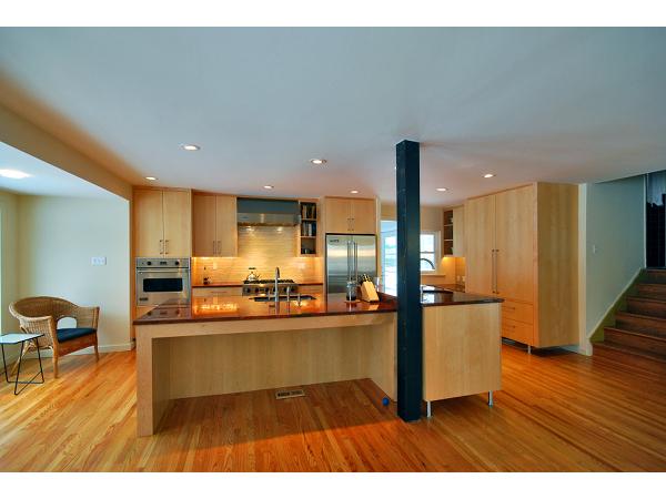 Modern Open Suburban Kitchen