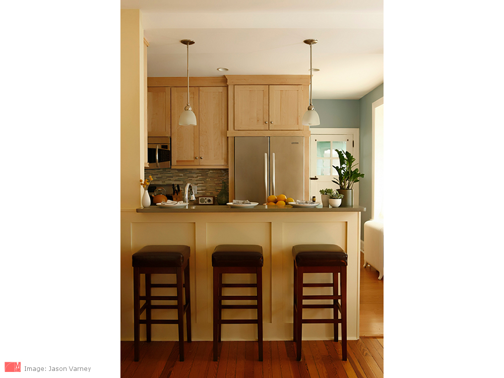 Open Plan Townhouse Kitchen Myers Constructs Inc