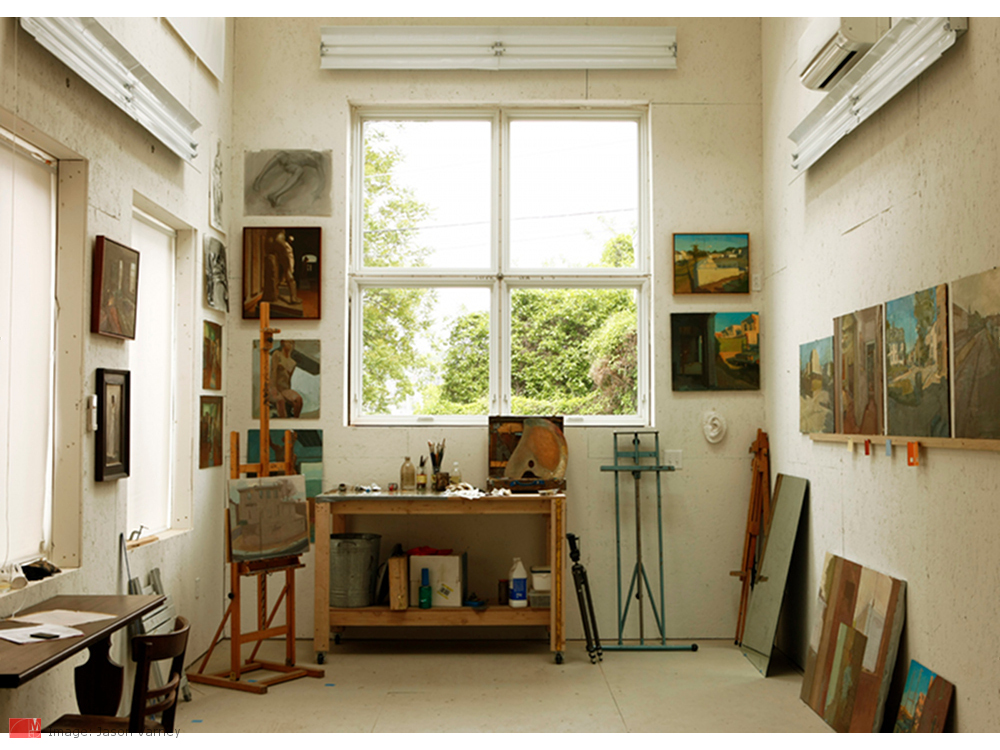 His And Hers Urban Work-Play-Creative Space And Art Studio