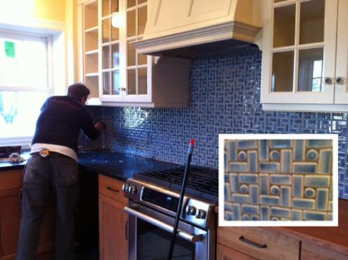 Custom kitchen backsplash tile