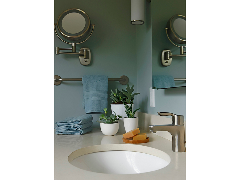Lafayette Hill Bathroom -- Pastel Colors & Brushed Nickel